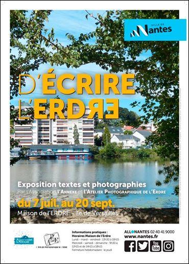 Affiche pour exposition textes et photos D'écrire l'Erdre
