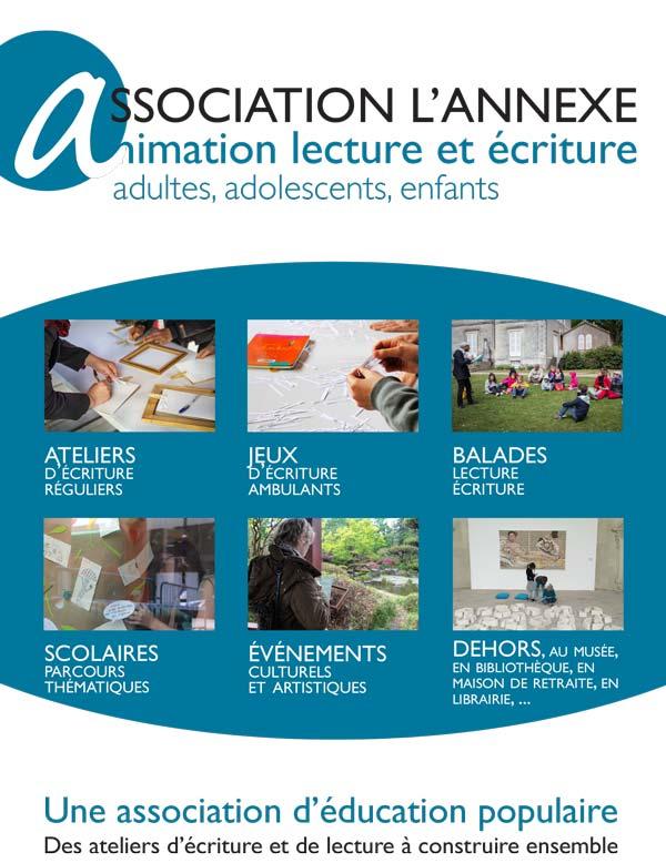 Plaquette 2017 de l'association L'annexe