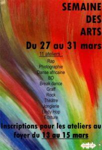 affiche semaine des arts 2017
