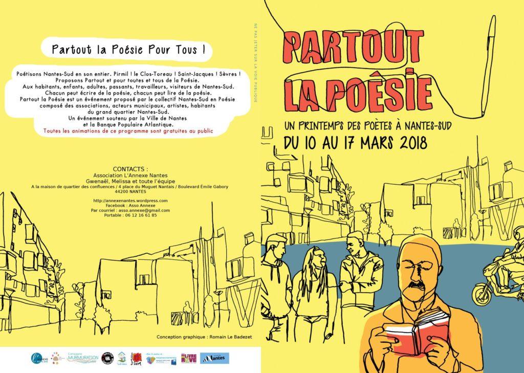 Première partie du programme de l'animation Partout la poésie organisée par L'Annexe
