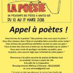 Affiche pour l'appel à poètes de l'Annexe